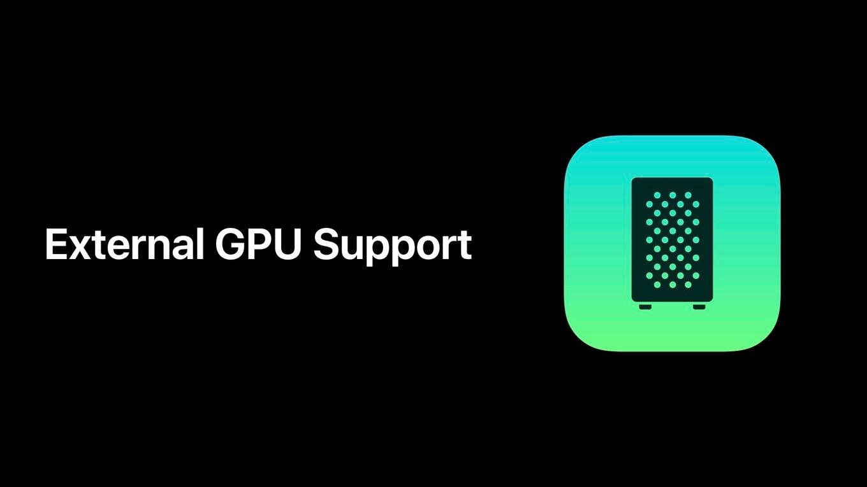 AppleのeGPU Kitについての説明。