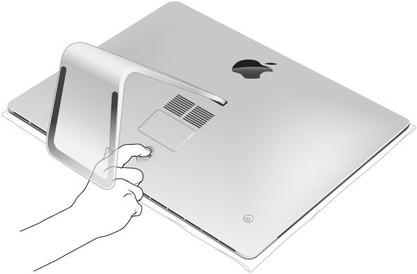 iMacのメモリコンパートメントドア