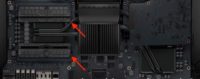iMac Pro 2017 27インチのメモリ位置