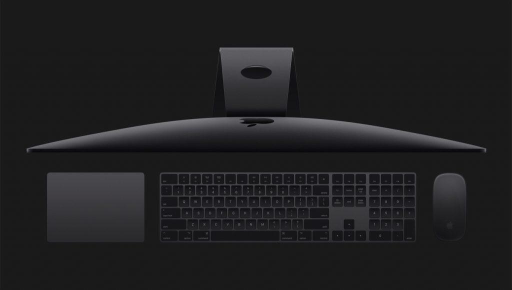 iMac Proのスペースグレイアクセサリ。