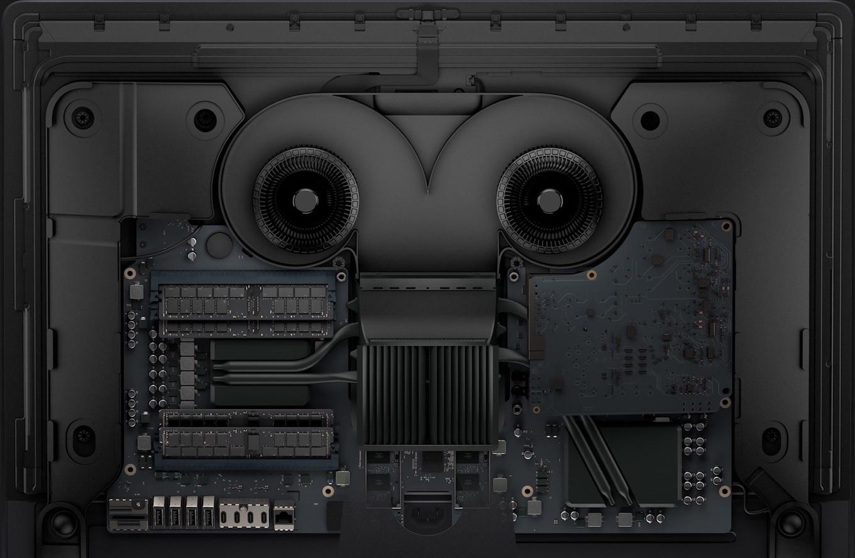 iMac Pro 2017の内部構造。