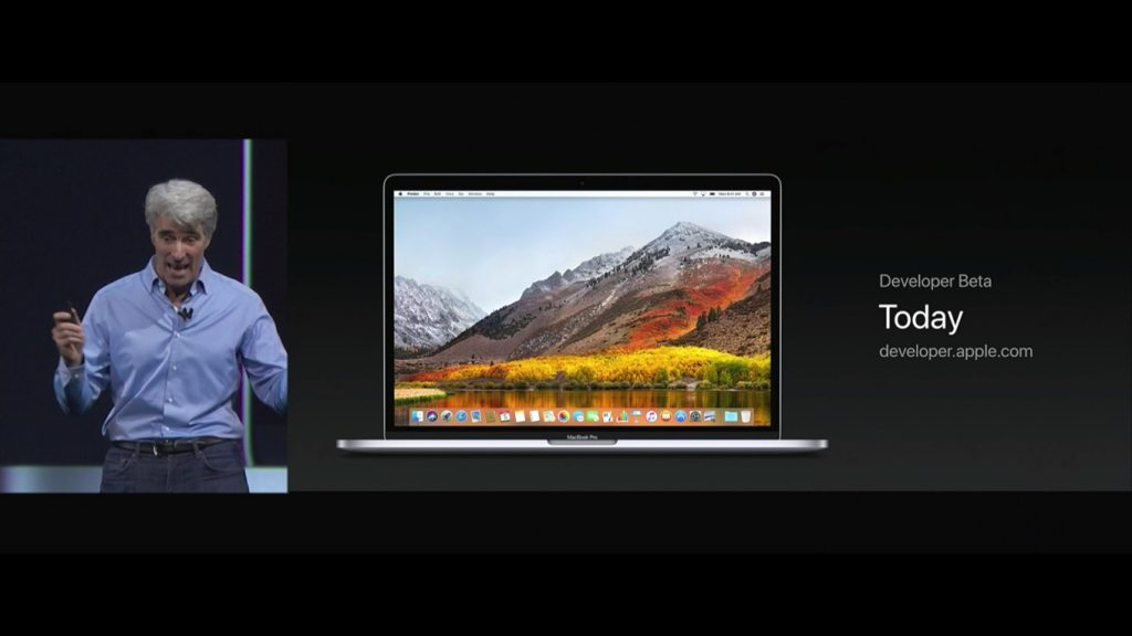 macOS High Sierra Betaが本日より配布開始。