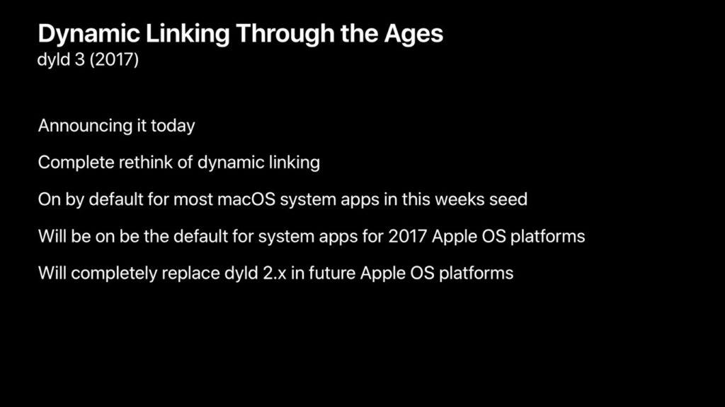 High SierraやiOS 11で搭載されるdyld v3.0について