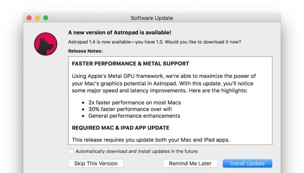Astropad Studio v1.4のリリースノート