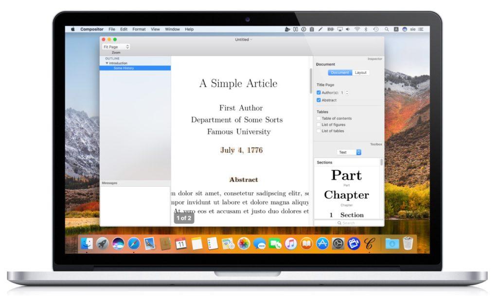 Compositor: WYSIWYG LaTeX for Macのプレビュー