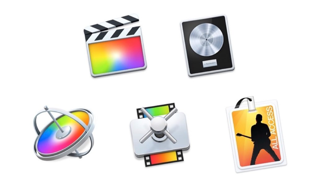 Final Cut Pro XとMotionとCompressorとLogic Pro X とMainStageのアイコン