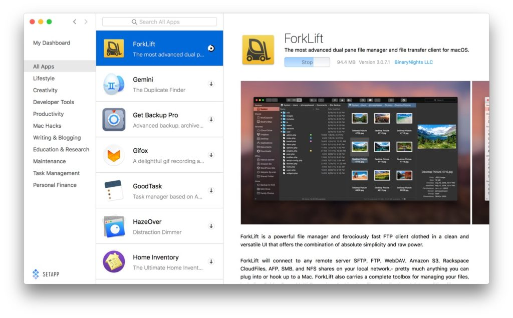 ForkLift v3 join setapp