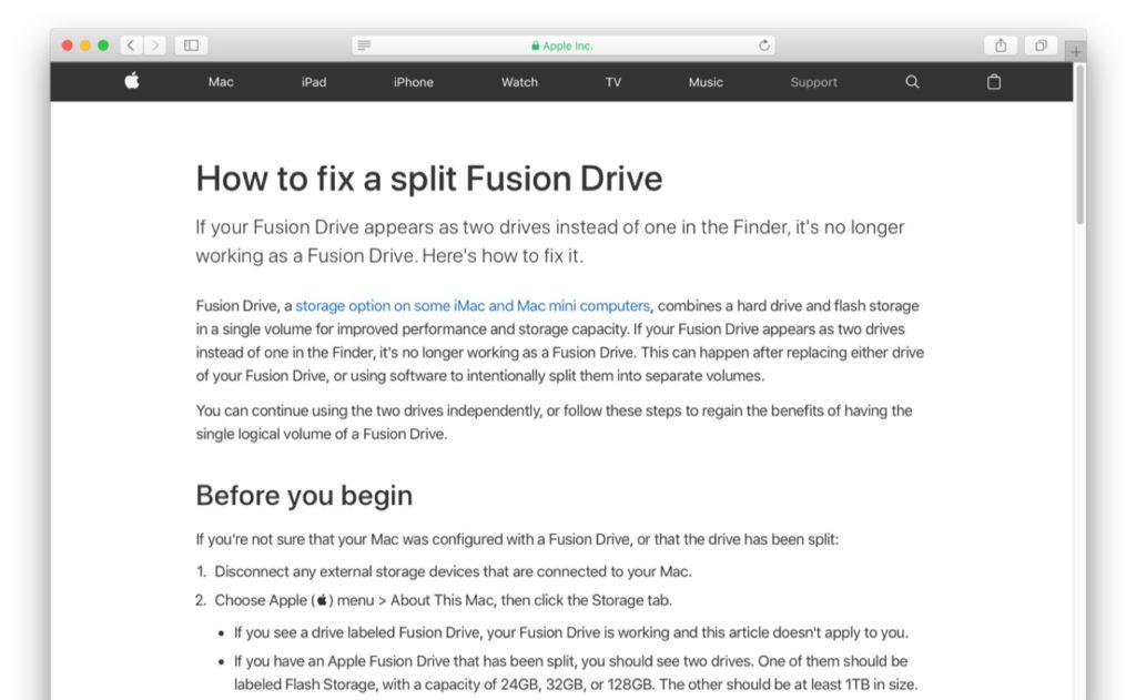 Fusion Driveが分割された時の修正方法。