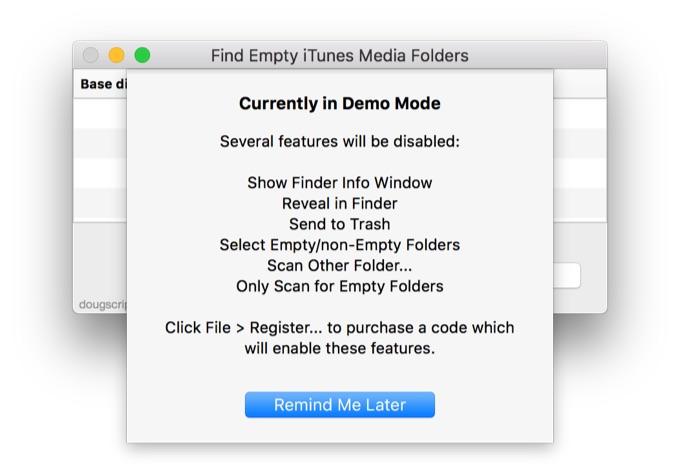 Find Empty iTunes Media Foldersの使い方4