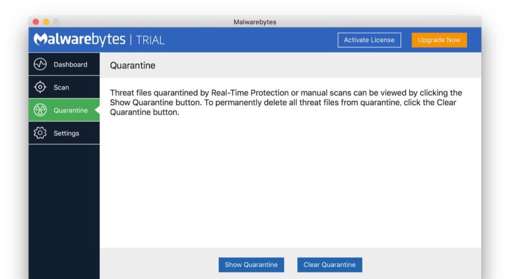 Malwarebytes 3.0 for Macの隔離機能