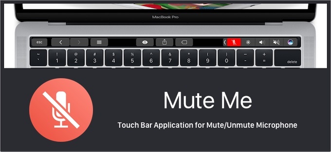 Mute MeのTouch Bar表示