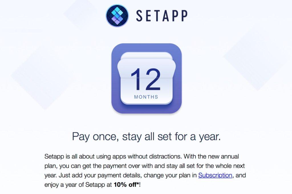Setappの年間プラン