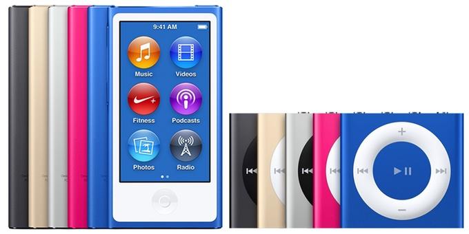 第5世代iPod nanoとShuffle