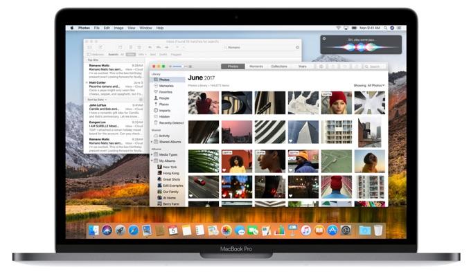 macOS 10.13 High Sierraのヘッダー
