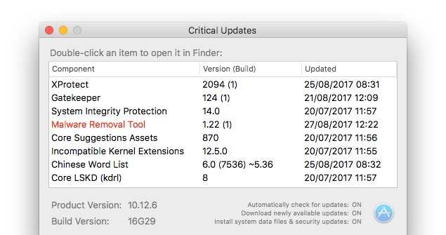 Apple Malware Removal Tool v1.22