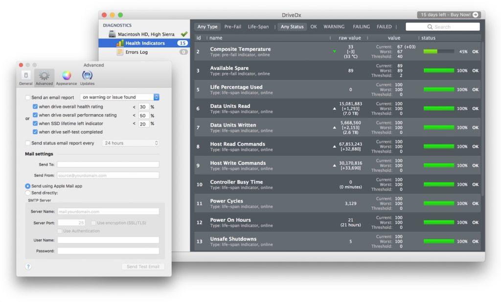 DriveDx v1.6のメール通知