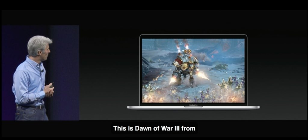This is Dawn of War III from Feral Interactive