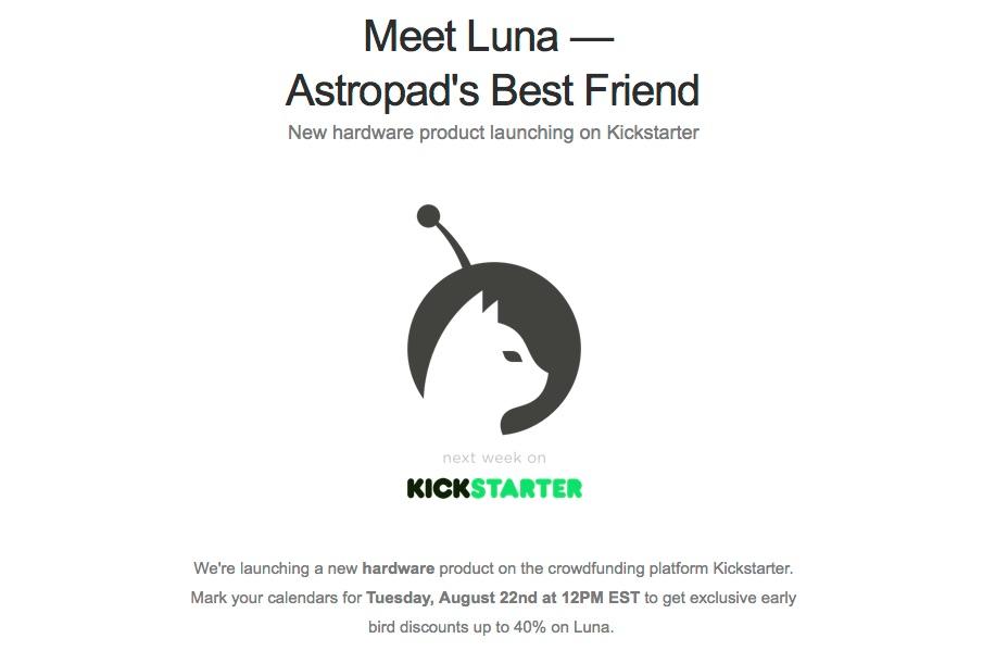 Astropadの新しいハードウェアLuna