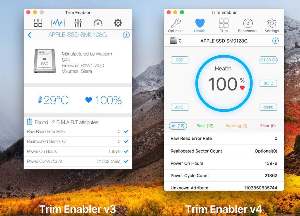Trim Enabler v4のSMART機能。