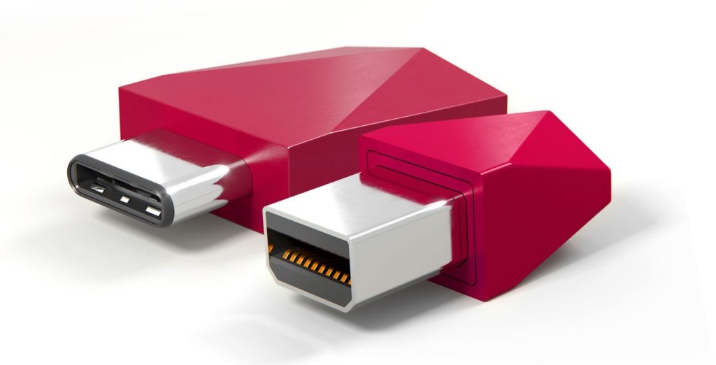 USB-CとMini DisplayPortのLunaアダプタ