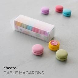 マカロン型のケーブルクリップ「cheero Cable Macarons」