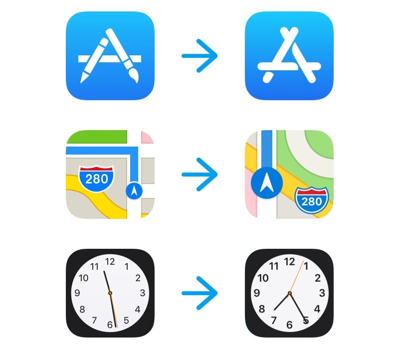 iOS 11 beta 6の新しいアイコン