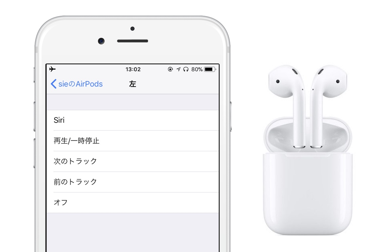 AirPodsとiOS 11を搭載したiPhone