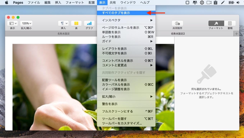 Safari風のすべてのタブを表示機能