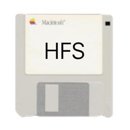 AppleのHFS+のロゴ