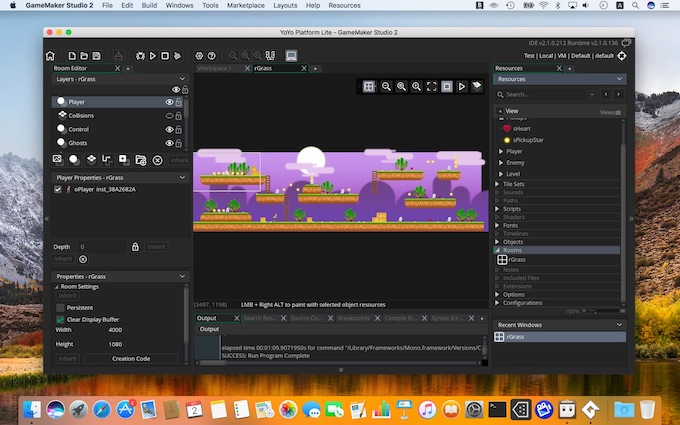 GameMaker Studio 2 for Macのトライアル版