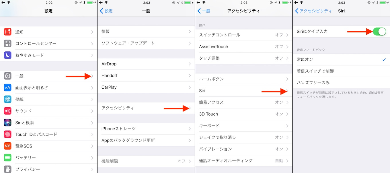 Type to Siriの使い方