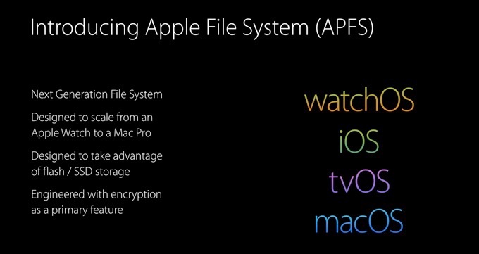 Introducing Apple File System point