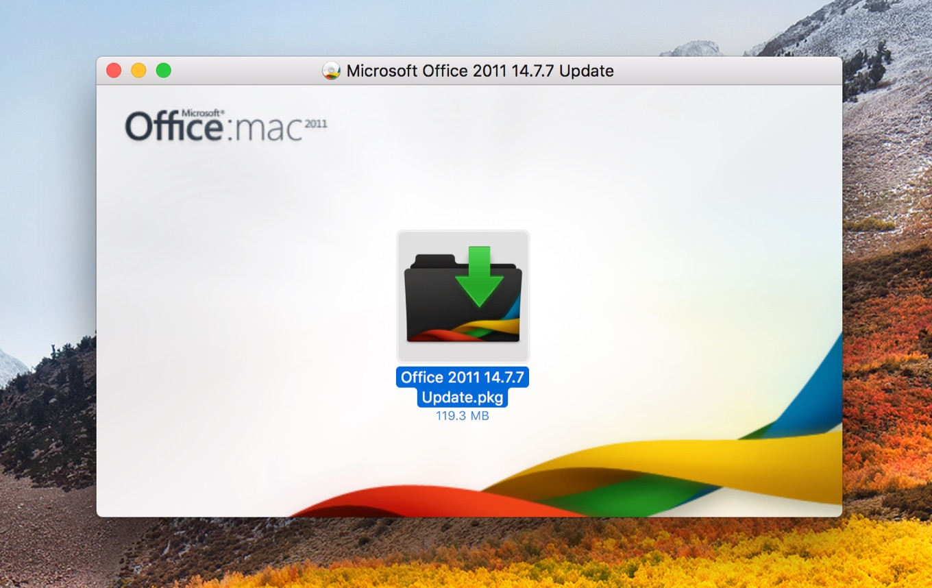 Description of the security update for Office for Mac 2011 14.7.7: September 12, 2017