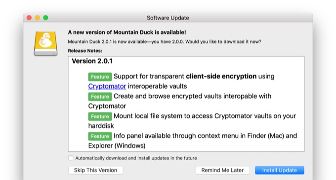 Mountain Duck v2のリリースノート