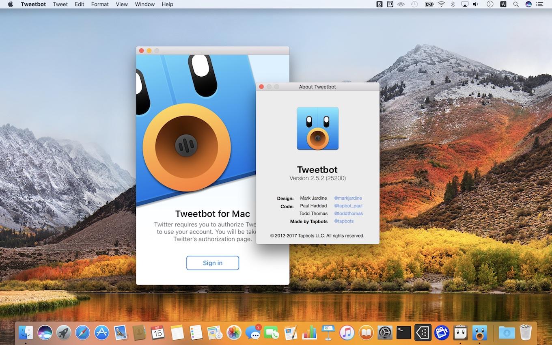 macOS 10.13 High SierraをサポートしたTweetbot for Mac