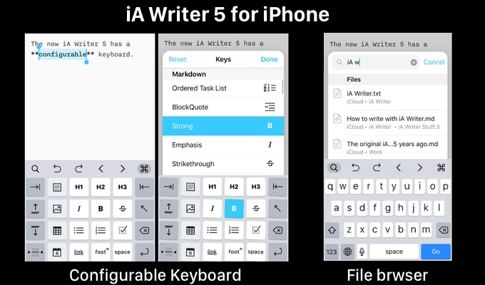 iA Writer 5 for iPhone
