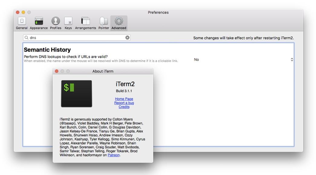 iTerm 2 v3.1.1