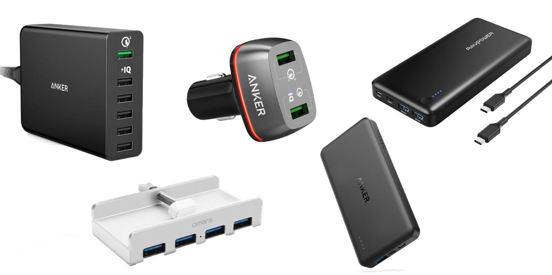 Amazonで最大30WでMacBookを充電可能なRAVPowerのモバイルバッテリーやAnkerのUSB急速充電器などタイムセール中