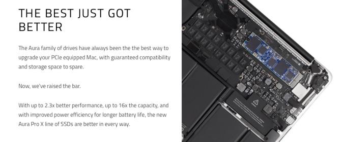 Aura Pro SSDの換装図