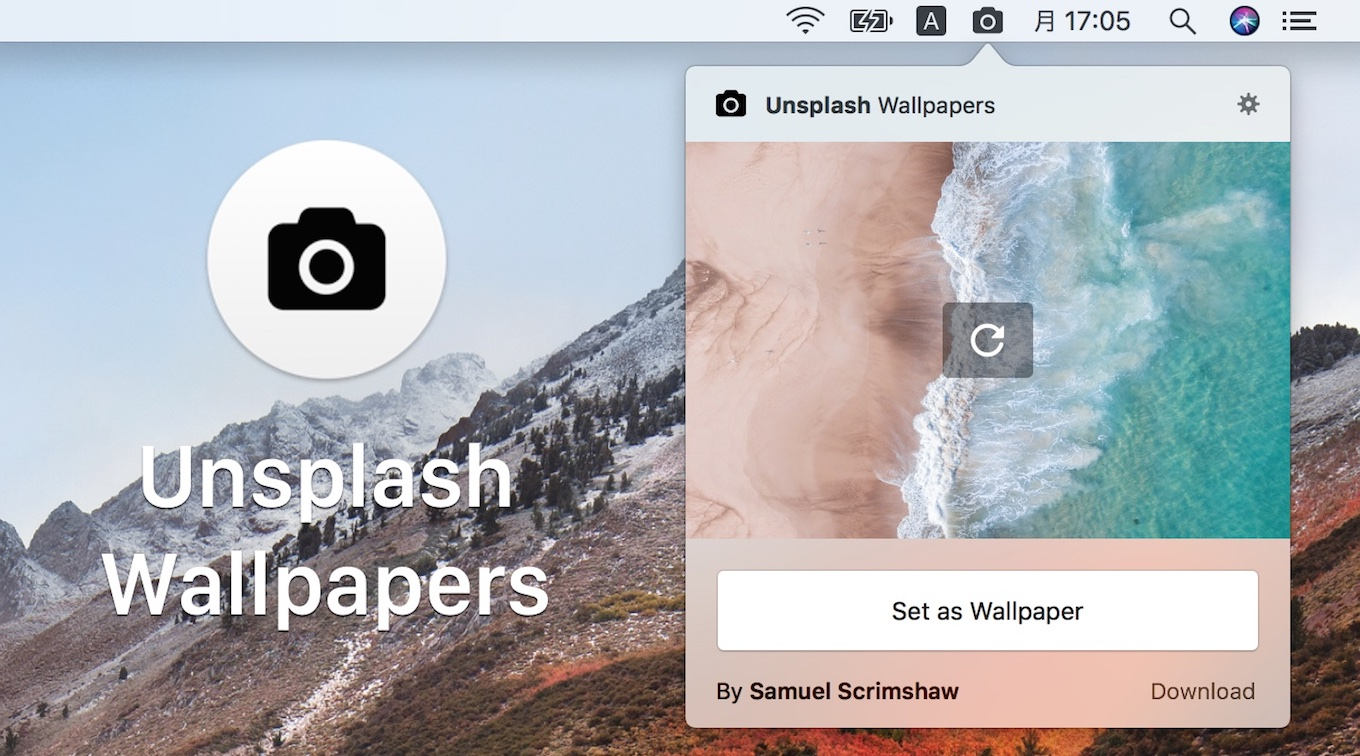 Unsplash Wallpapers on the Mac App Store