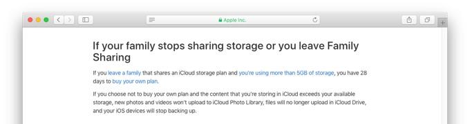 iCloudストレージ共有を辞める方法