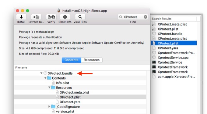 macOS 10.13 High SierraのXProtect v2094
