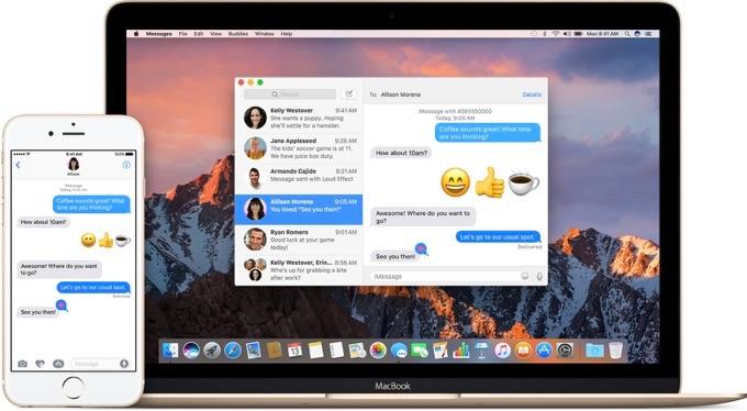 iOSとmacOSのメッセージアプリ