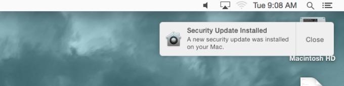 Appleの自動アップデート通知