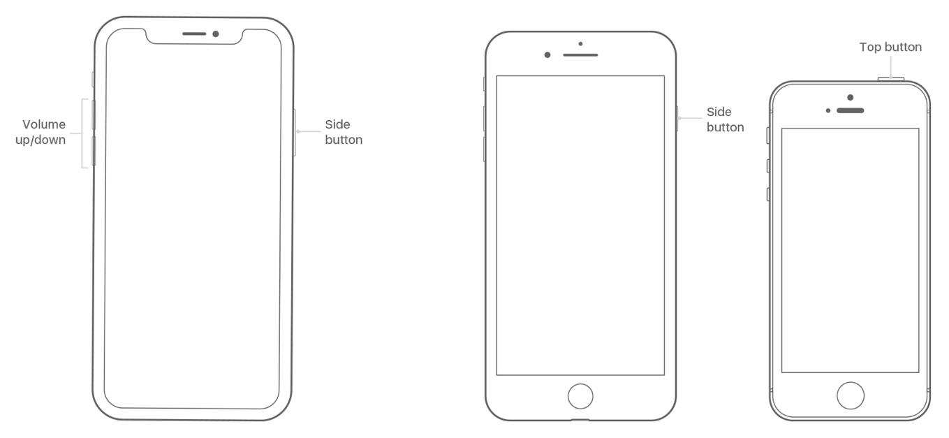 iPhone Xの再起動方法