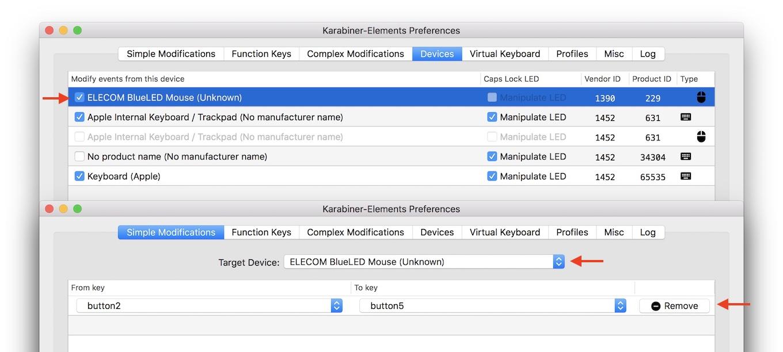 Karabiner-Elements v11.2でサポートされたマウスキーの変更