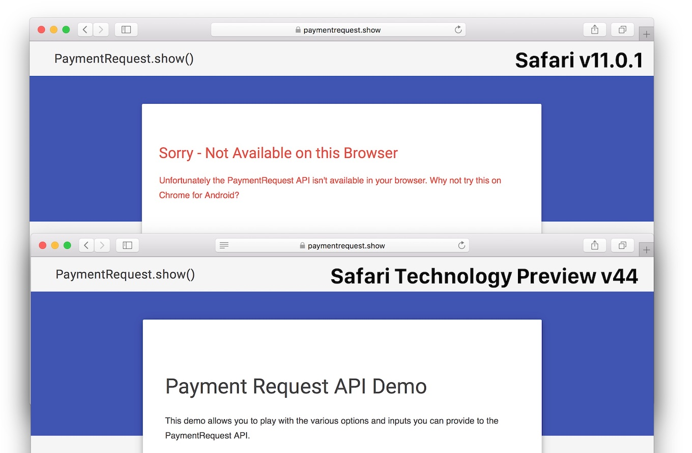 Safari 11.1でPayment Request APIがデフォルトに