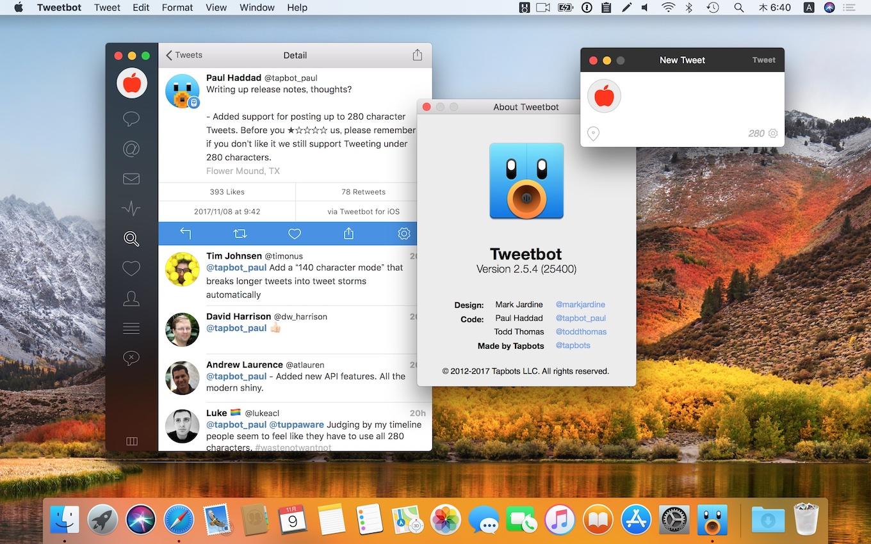 280文字をサポートしたTweetbot for Mac
