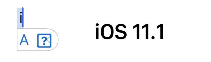 iOS 11.1のキーボードで発生する不具合