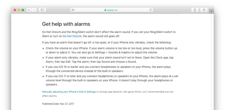 iOS 11のアラーム音出力について